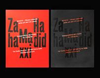 Zaha Hadid – MAXXI Poster