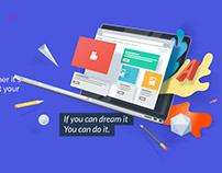 Web Builder Landing Page