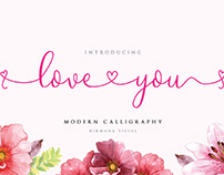 FREE   Loveyou Romantic Modern Calligraphy