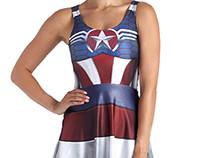 Captain America Inspired Skater Dress
