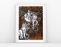 Keep Spinning - Collage Art