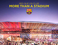 The new stadium in Barcelona for FCBarcelona
