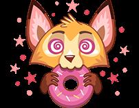 Foxy Ginger. Stickers for Telegram messenger