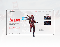 «Marvel's avengers» videogame site concept