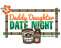 Daddy Daughter Date Night Illustration