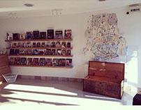 BookR könyvesbolt faldekor