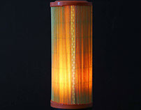 Car filter table lamp