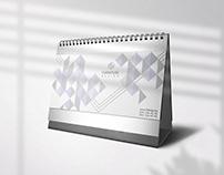 Minimalist Geometric Calendar Design