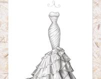 'Marilee' - Wedding Dress Illustration