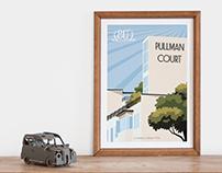 Pullman Court - 80th Anniversary Poster Design