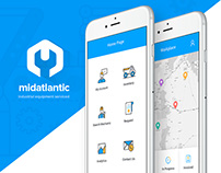 midatlantic: Industrial equipment service app