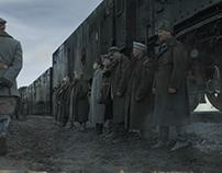 """сериал """"Троцкий"""", текстуры поезда"""