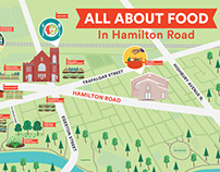 llustration & Art Direction: All About Food, Map Series