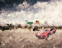 Ferrari 512 in the desert