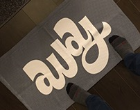Home / Away Ambigram Floor Mat