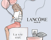 Fashion Illustration Ad: Lancome Beauty