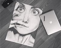 Bleistiftzeichnung | Cristina Otero
