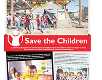 Encarte para periódico de Save and Children