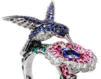 The hummingbird ring - Boucheron(replica)