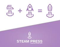 Steam press branding