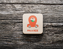 Logo Design for Android Application | Pin a Ride
