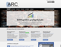 ARC.ge - website for a marketing company in Georgia