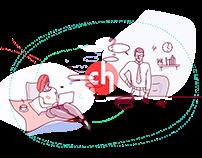 Crowdholding.com landing page illustrations