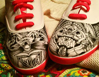 Ink on Shoes