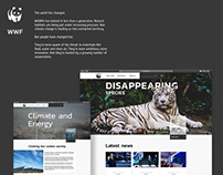 WWF | Redesign website | Environment