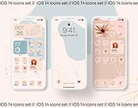 Modern aesthetic IOS 14 icons set