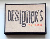 DESIGNER'S ENGLISH