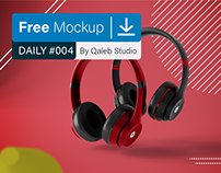 Free Abstract Headphones Mockup