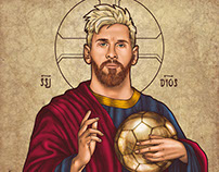 Messi Sagrado Super Saiyajin Dios
