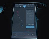 Tesla board computer UI - Daily UI #034 - freebie