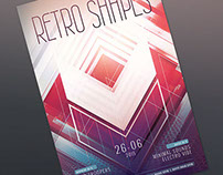 Retro Shapes Flyer