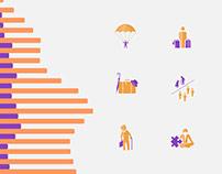Icons / Graph on Demography