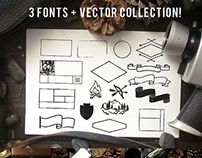 Fonts + Vectors collection