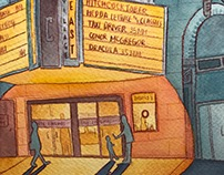 NYC Illustrations: East Village Cinemas