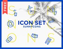 FREE SUNNYCONS icon set