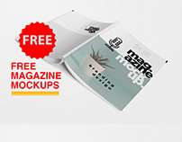 Free Magazine Mockup A4
