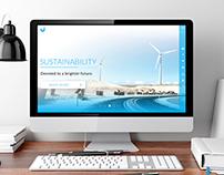Clean Energy Website – Free design download
