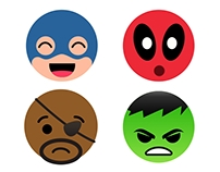 Facebook reaction buttons | Marvel edition