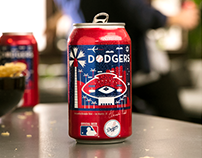 Budweiser Dodger Can