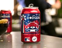 Budweiser Dodger Can