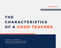 The Characteristics of a Good Teacher by Mike Sheppard