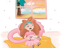 Fatima & her Flamingo