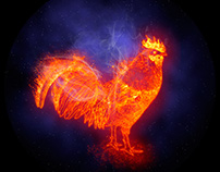 2017 year, fire cock (rooster)