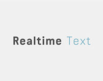 Realtime Text Typeface