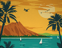 Vintage-Inspired Travel Posters - Hawaiian Islands