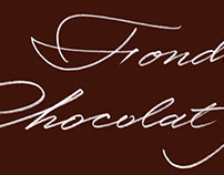Fondue au Chocolat Noir